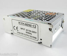 1pc 60W 12V 5A Regulated Switching Power Supply for CCTV and Led Lights Strip