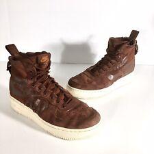 Nike SF Air Force 1 Men's Mid Top Pueblo Brown Sneakers 917753-202 Size 7.5