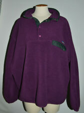Patagonia Fleece Hoodie Mens XL Purple Synchilla 3/4 Snap Pullover Vtg 90s
