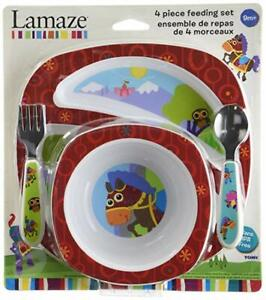 The First Years Lamaze Baby  4-Piece Feeding Set sealed NEW Free Shipping