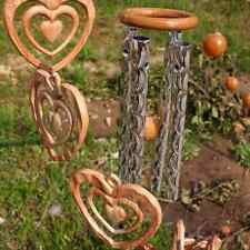 Heart Campanula Ornament Wind Chime Indoor Gardens Outdoor Porch Hanging Decor