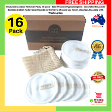 Makeup Remover Pads Reusable Bamboo Cotton Pads Toner Cleanser Removal Make Up