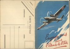Polydor Records Sheet Music Fold-Open Promo PC Airplane L'Appel Des Ailes