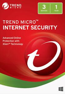 Trend Micro Internet Security 2021 3 PC 1 Jahr | Vollversion / Upgrade | UE DE