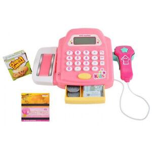 Registrierkasse Kaufladen Kinder mit Kasse Scanner Spiel Spielzeug M-1