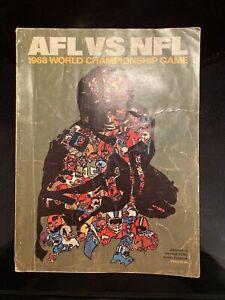 1968 World Championship Game AFL VS NFL Super Bowl Program Orange Bowl