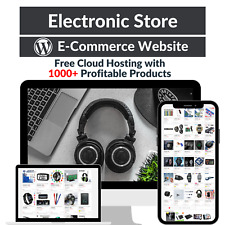 Electronic Store Amazon Business Affiliate Dropshipping Website 1000 Products