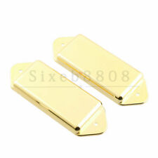 2PCS Gold-Plated P-90 P90 Pickup Dogear Cover Undrilled for Gibson