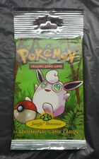 Pokemon Cards Sealed Jungle Booster Pack Long Tab Wigglytuff WOTC 2000