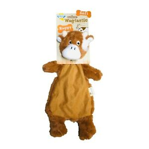 Good Boy Dog Puppy Toy Raggy COW Unfilled  Soft Comfort Blanket Stuffing Free*