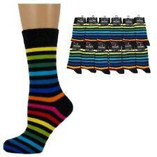 BLACK RAINBOW THIN STRIPED/STRIPY Ladies/Womens Ankle Socks UK 4-7 green/blue