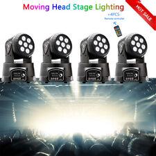 4pcs 105W 7 LED RGBW Beam DJ DMX512 Disco Party Moving Head Light Stage Lighting