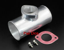 "2.5"" OD Type R RS RZ BOV Blow Off Flange Adapter POLISHED Aluminum Charge Pipe"