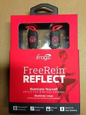 iFrogz FreeRein Reflect Wireless Bluetooth Earbuds - Red With Case.