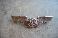 WWII rare named sterling pilot wings pin Air Crew bomber B-17 ?