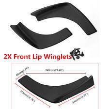 2x Universal Car Side Skirt Rocker Splitters Canard Diffuser Winglet Wing Solid
