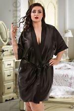 Nine X Satin Dressing Gown Plus Size 8-26 Bridesmaid Robe 15 Colours