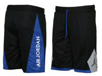 NIKE AIR JORDAN 5 REVERSIBLE SHORTS (AA2140-010) BLACK BLUE MENS SZ MEDIUM M NWT