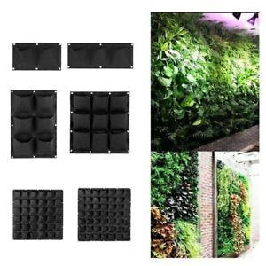 Vertical garden wall plant Grow bags 9 25 72 pockets Hanging flower pot Planter