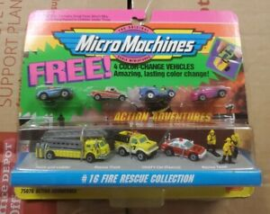 Galoob MICRO MACHINES 75076 Action Adventures #16 Fire Rescue 4 FREE VEHICLES