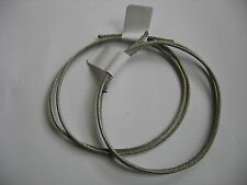 2 x Vintage Style Cloth Covered Wire w/Braided Shield