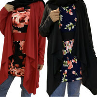 Plus Size Women's Loose Long Sleeve Floral Casual Blouse Shirt Tunic Tops Blouse