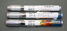 "New listing (3) La-Co Markal Thermomelt Heat Stik 86697, 350° F / 177° C, 3/8"" Tip, Stick"
