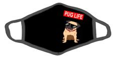 Pug Life Ocean Beach Face Mask Cover New Unisex Novelty Dog Woof Fashion