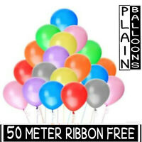 25 New Latex PLAIN BALOON BALLONS helium BALLOONS Quality Party Birthday Wedding