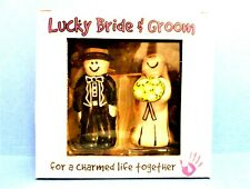 Lucky Bride & Groom Figurines, Charmed Life Wedding Cake Topper, Our Name Is Mud