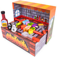 Grill n' Fill BBQ Barbecue Playset   Pretend Play Kitchen Food with Grill Marks