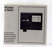 Original Rollei Flash E 19 Bc Instruction Book - 74 pages, in 6 languages