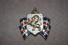 "Dieu et Mon Droit pin WWII Official Lion 2"" British War Relief Society VINTAGE"