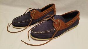 Polo Ralph Lauren Suede Leather Barx Lace Up Boat Shoes Men's 12D