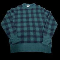 Vintage Woolrich Green And Black Buffalo Plaid Sweater Size Large