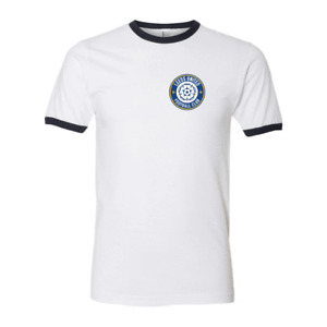 Leeds United Home Retro Football T Shirt Ringer Classic Vintage New All Sizes