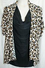 Size 3X WOMENS ANIMAL PRINT SHIRT (1 Piece) BLOUSE/ISABELLA RODRIGUEZ NWT $78