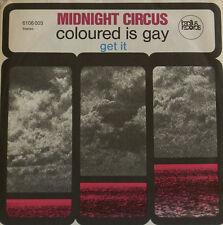 """MIDNIGHT CIRCUS colorié EST GAY - TÉLÉCHARGER IT BACILLUS RECORDS 7""""SINGLES (h8)"""