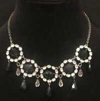 "STUNNING MODERN ESTATE SIGNED LIZ CLAIBORNE NECKLACE 20"" EARRING PIERCED 2""SET"