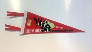 Isle of Wight Scooter Rally Pennant Flag BNIP Collectable Mod Scooter Merch Gift