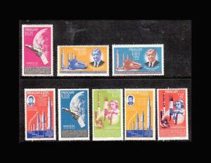 Paraguay, Sc #836-43, MNH, 1964, SPACE ACHIEVMENTS, JFK, FFDD-A