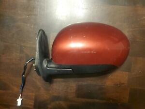 09-14 Nissan Cube Power Door Side Mirror Driver Left Red OEM