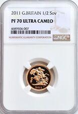 2011 Gold Half Sovereign Proof PF70 NGC Great Britain 1/2 Royal Mint Sov