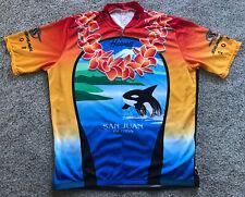 2008 Mens XL Louis Garneau San Juan Islands Hawaii Bicycling Cycling Jersey