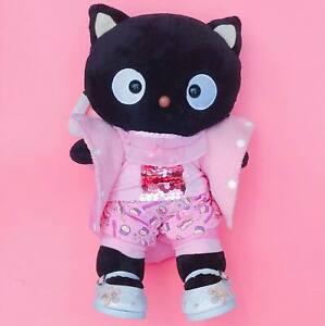 """Very Rare Sanrio Chococat Build A Bear Plush 18"""" + Clothes & Shoes Cute Kawaii"""