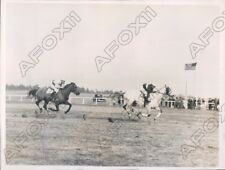 1936 Sandhill Steeplechase Indigo in lead  Jockey Charlie White Up  Press Photo