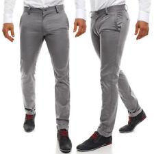 Pantalones de hombre chinos color principal gris 100% algodón