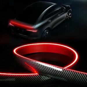 Car Carbon Fiber Rear Wing Lip Spoiler Tail Brake Lights Trunk Roof Trim Sticker