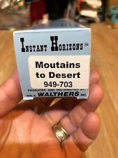 """Walthers Scenemaster """"Instant Horizons"""" 949-703 Mountains To Desert 24""""x36"""" New"""