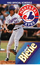 1992 MONTREAL EXPOS POCKET SCHEDULE - ENGLISH